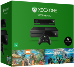 Console Xbox One 500GB + Kinect + 2 jogos - R$1.709,10