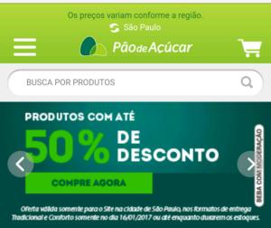 50% de DESCONTO NO PÃO DE AÇÚCAR (SÓ HOJE)