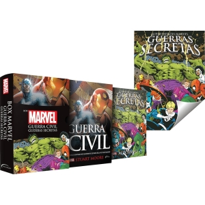 Box - Marvel: Guerra Civil e Guerras Secretas (Edição Slim) + Pôster - R$ 19,90
