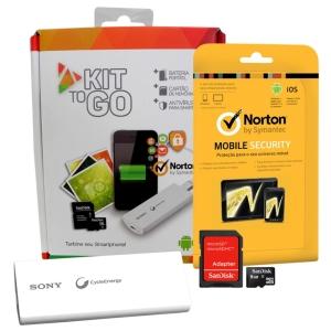 Carregador Portátil Sony 3000mAh Branco + Cartão de Memória SanDisk 8GB + Antivirus Norton Security Mobile por R$ 40