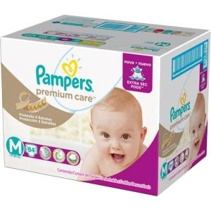 Fralda Pampers Premium Care Jumbo M/G/XG por R$ 67