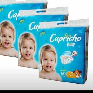 Fralda Capricho Baby Super Jumbo G - 240 Unidades por R$ 60