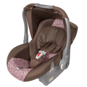 Bebê Conforto Tutti Baby Nino - 0 a 13kg - Marrom/Animal Print por R$ 91