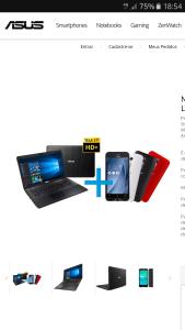 """Notebook Asus 17,3"""" + Zenfone Go LTE 5"""" (12x sem juros) R$2.699"""