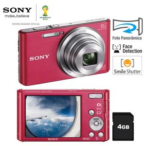 Câmera Digital Sony Cyber-shot DSC-W830 Rosa - R$ 199,90
