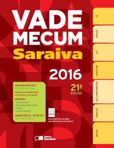 Vade Mecum Saraiva - 21ª Ed. 2016 R$ 29,90