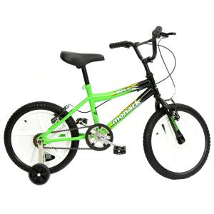 Bicicleta Infantil Aro 16 Monark BMX Ranger 53050 - Verde/Preta - R$ 299,61