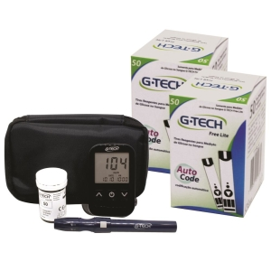 Kit Medidor de Glicose G-Tech Free Lite + 100 Tiras - R$ 61,51