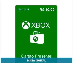 Cartão Presente R$30 Xbox Live Brasil - Microsoft - R$ 28,79