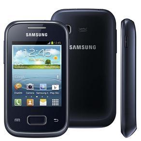 [RJ e ES] Celular Desbloqueado Samsung Galaxy Pocket Plus Preto GT-S5301 com Android 4.0, Wi-Fi, 3G, GPS, Câmera 2MP, Rádio FM, MP3, Bluetooth e Fone - Tim R$57,69