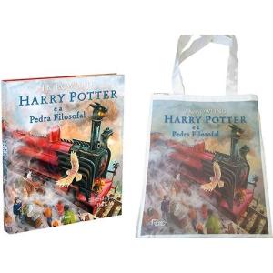 Kit Exclusivo - Livro Harry Potter e a Pedra Filosofal (Edição Especial Ilustrada Capa Dura) + Sacola Harry Potter - R$ 59,90