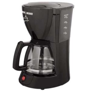 Cafeteira Elétrica Prepara 24 Xícaras, 800W de Potência, Jarra em Vidro,Porta Filtro Removível e Sistema Corta-Pingos - Black & Decker R$59