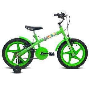 Bicicleta Infantil Aro 16 Verden Rock - Preta e Verde