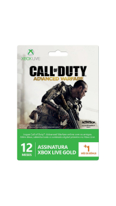 Xbox Live Card 12 Meses + 1 Mês - Edição Call Of Duty: Advance Warfare