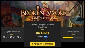 Pacote Completo Broken Sword 90% De Desconto