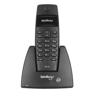 Telefone sem fio Intelbras TS40 preto, tecnologia DECT 6.0, livre de interferência R$ 62,91