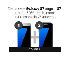 Compre um Galaxy s7 ou s7 edge e ganhe 50% no segundo