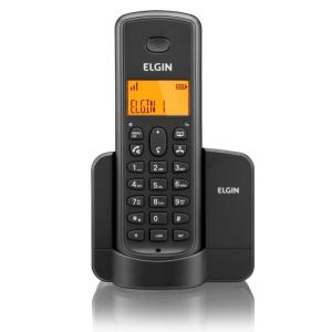Telefone Sem Fio Elgin Tsf 8001 Dect 6.0 1.9 Ghz C/ Viva Voz E Identificador De Chamadas R$ 61,53