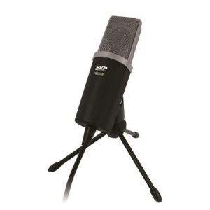 Podcast100 - Microfone C/ Fio P/ Estúdio P2 Podcast 100 - Skp por R$ 166