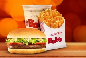 Bob's Burger P + Batata M + Milk Shake - R$ 13,00 (BOBS FAN)