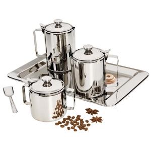 Conjunto para Chá e Café Euro Home Inox - 5 Peças - R$ 116,01