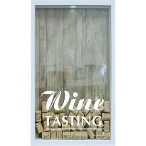 Quadro Porta Rolhas de Vinho Wine Tasting 17x27x4cm Branco - Kapos por R$ 12