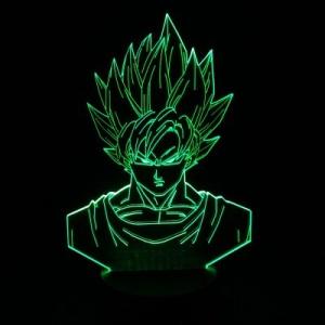 Lúminaria Goku SSJ (7 cores) por R$55