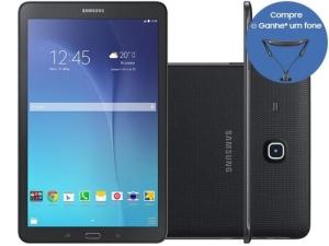 "Tablet Samsung Galaxy Tab E 8GB 9,6"" Wi-Fi - Android 4.4 Proc. Quad Core Câm. 5MP + Frontal por R$688"