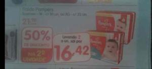 [Supermercado Dia] Fralda Pampers Super Sec M (30 unid.) ou XG (22 unid.) por R$16,42