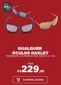 Até 66% OFF em Óculos Oakley