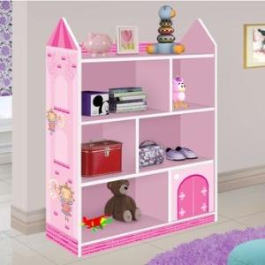 Prateleira Castelo J&A Móveis Rosa - R$129,90