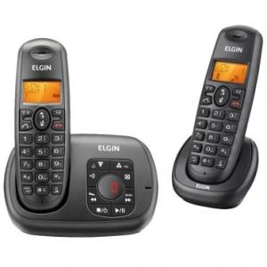 Telefone sem Fio + 1 Ramal Elgin TSF702SE Preto por R$ 162