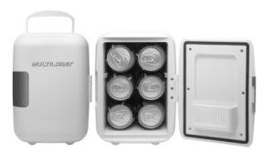 VOLTOUUUUUU - Mini Geladeira Portátil com 4 Litros de Capacidade, Função Esquenta e Resfria - Multilaser - R$179,90 + FRETE GRÁTIS