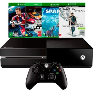 Console Xbox One 500GB + 4 Jogos + Controle Sem Fio - R$ 1329