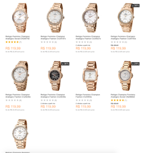 [SHOPTIME] Seleção de relógios Champion dourados