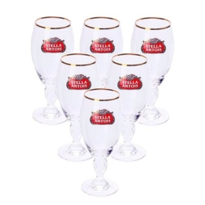 Jogo De Taças Para Cerveja Stella Artois Vidro 250ml 6 Peças por R$ 21