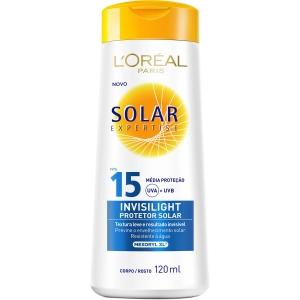 Protetor Solar L'Oréal Paris Expertise Invisilight FPS 15 120ml R$9,99