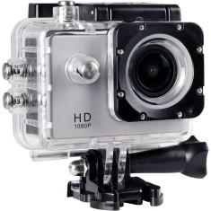 """Câmera Filmadora de Ação ONN 12MP Full HD Tela 1.5"""" Prata por R$ 150"""