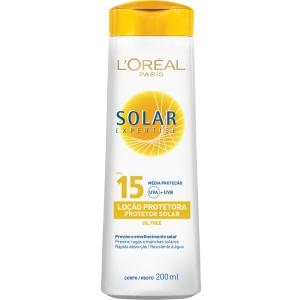 Protetor Solar Expertise Loção FPS 15 200ml - L'Oréal Paris R$9,99