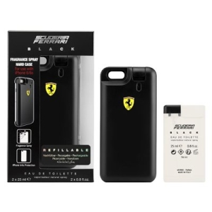 Kit Perfume Ferrari Black EDT iPhone 6/6s Case 25ml + Refil 25ml Masculino Scuderia FerrarI