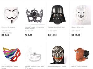 Máscaras para o carnaval! - Americanas - a partir de R$5