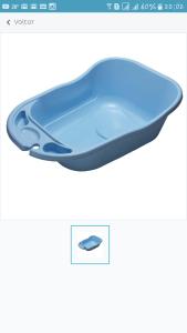 Banheira Styll Baby c/ 34 Litros – Azul