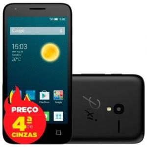 "Smartphone Alcatel PIXI3 4.5"" OT5017 Preto - 4G, Tela 4.5"" por R$ 280"