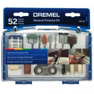Kit de Acessórios com 52 Peças Ideal para Cortar, Desbastar, Esculpir, Gravar, Modelar, Lixar, Limpar e Polir - Dremel por R$ 66