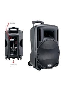 Caixa de Som Amplificada, ACA280, 280W, USB, Bluetooth, Rádio FM, Controle Remoto, Rodas, Alças Para Transporte e Bateria Recarregavel - Amvox