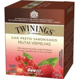 Twinings of London Chá Preto Frutas Vermelhas Caixa com 10 Saches