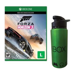 Jogo Forza Horizon 3 Xbox One + Squeeze de Metal + Pro Evolution Soccer 2015 por R$ 120