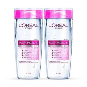 Kit Água Micelar Solução de Limpeza Facial L'Oréal Paris Dermo Expertise 5 em 1 por R$40