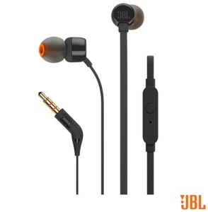 Fone de Ouvido JBL In Ear Intra-Auricular Preto - JBLT110BLK - JBLT110PTO por R$ 57