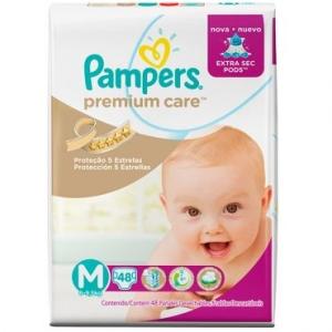 Fralda Pampers Premium Care Mega M 48 unidades  por R$ 15